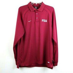 Nike Mens Shirt Polo Florida State Seminoles Large